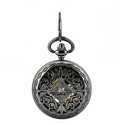 Pocket watch, mechanical watches,automatic,hollow,retro, gifts, W0050
