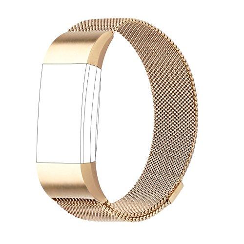 AdePoy Ersatzarmband für Fitbit Charge 2, Milanese Edelstahl Ersatzarmband Smart Watch Armbänder Damen Herren