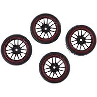 Gazechimp Neumáticos de Goma con Borde de Rueda Neumáticos Blandos Alta Calidad para Rastreador Rocas 1:10 Camiones