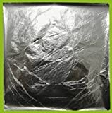 Blattsilber zum Versilbern 25 Blatt, 14x 14 cm, Schlagmetall Creavvee