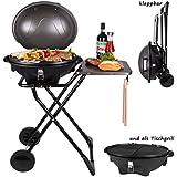 Barbecue | Parrilla eléctrica de pie | parrilla tipo caldera | parrilla de mesa | parilla de pie con tapa y superficie de apoyo | parrilla eléctrica tipo caldera con tapa | plegable con ruedas | BBQ