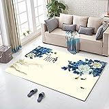 QIAO Druck chinesischen Stil Teppich Wohnzimmer Couchtisch Schlafzimmer Nacht Küche Badezimmer Anti-Rutsch-Matte (Farbe : B, größe : 100x160cm)