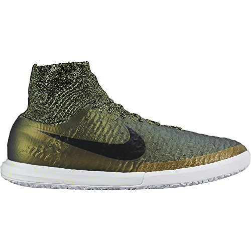 Nike Magistax Proximo IC, Chaussures de Foot Homme, Violet Verde / Dorado / Noir (Dark Citron / Black-White-Volt)