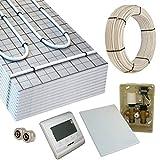 HoWaTech TAC Warmwasser Fußbodenheizung Komplettset E-Regelbox Digital, Heizfläche:5.00m²