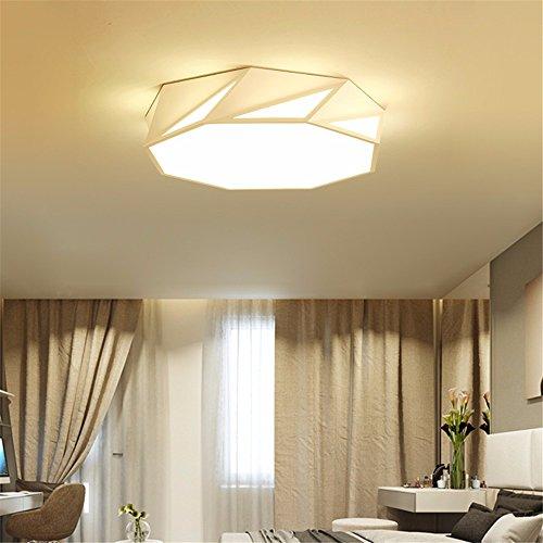 Deckenbeleuchtung Einfache Zimmer Deckenleuchte Geometrie Modernen Wohnraum Deckenleuchte Originalität Persönlichkeit Abnormity Raum Licht Studieren Speisesaal LampeWeiße 52 * 13Cm