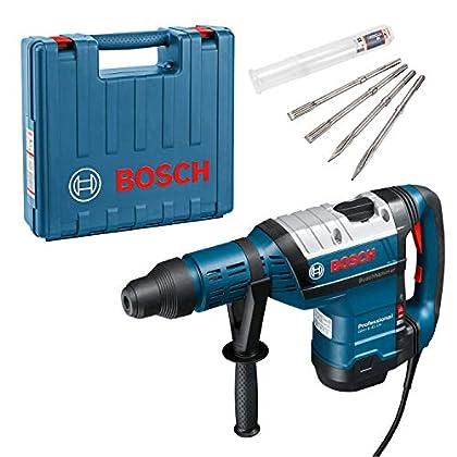 Bosch 0615990J8M 1500W 305RPM SDS Max rotary hammers - Martillo perforador (SDS Max, 12,5 cm, 305 RPM, 12,5 J, 2760 ppm, Negro, Azul, Plata)