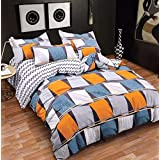 Style Your Home Comforter 4 Pcs Set | Comforter Set | AC Blanket | Comforter For Double Bed | Comforter Blanket Double Bed | 1 AC Comforter And 1 Double Bed Bed Sheet 2 Pillow Cover (Double, Orange/Blue)
