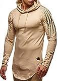 LEIF NELSON Herren oversize Sweatshirt mit Kapuze Hoodie Hoody LN6369