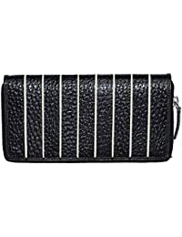 Hidekraft Genuine Leather Wallet for Women, Black