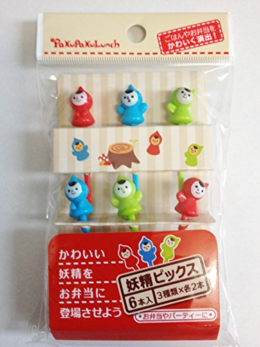 Obere Pick (Bento Box Dekoration–Fairy sanften Menschen Essen Pick-Set 6Stück)