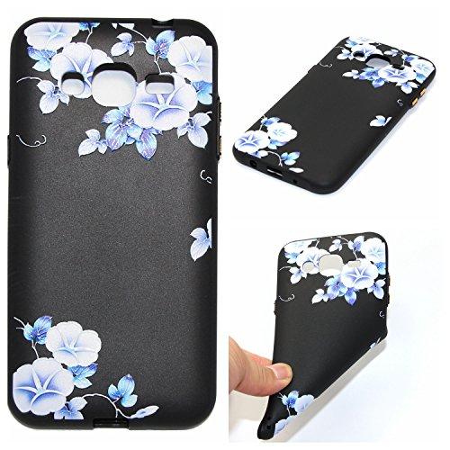 Qiaogle Telefon Case - Weiche TPU Case Silikon Schutzhülle Cover für Samsung Galaxy J7 2015 / SM-J700 (5.5 Zoll) - YX44 / Trichterwinde