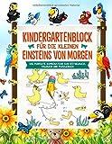 Kindergartenblock: Spielerische Vorbereitung für die Vorschule und Grundschule - Feinmotorik stärken und Spaß haben - Vorschulbuch, Puzzelbuch und Malbuch in Einem