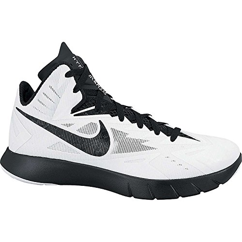 Nike Mens Lunar Hyperquickness TB Basketball Shoes (6, White/Metallic  Silver/Black