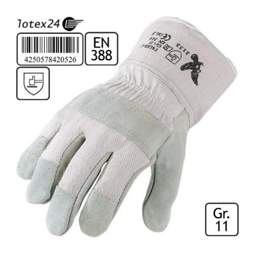3 Paar Spaltleder Handschuhe Gr.11 Arbeitshandschuhe Rindspaltleder Montage