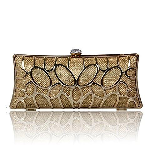 Ecosusi Noble Sequin Womens Evening shoulder bag Wedding Clutch Bag Gold