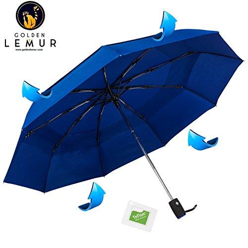 Paraguas Plegable Automático Compacto y Ligero GOLDEN LEMUR. Paraguas...