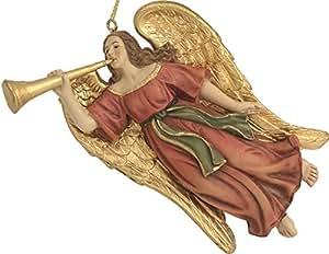 Figura di natività, volo angelo, con trombone adatto per cifre da 9-11cm (44635094459)
