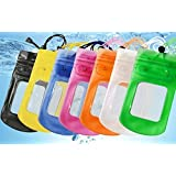 Tuzech Sealed Waterproof Pouch for All Smartphones (Black) Underwater Selfies Mobile Pouch