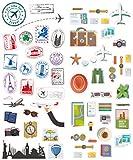 Polaroid bunte und dekorative Reisesticker für 5 x 7,5 cm Fotopapier-Projekte (Snap, Zip, Z2300) - 2 Seiten