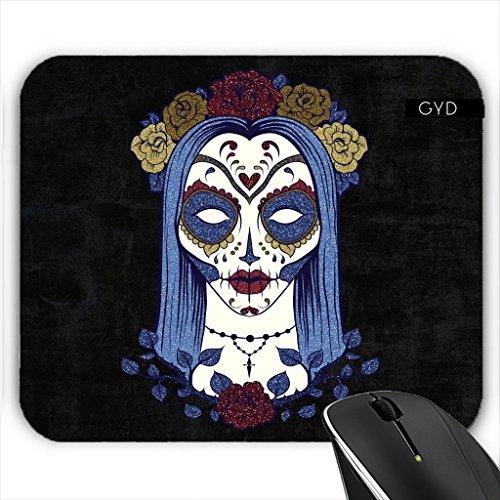 Mousepad - Dunkel Gothic Rose Sugar Skull by (Schädel Zucker Ideen)