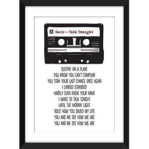 Oasis Talk Tonight Lyrics Unframed Print / Ungerahmter Druck