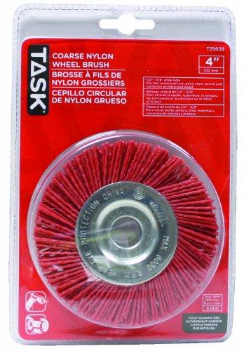 Aufgabe Tools t256581/2Zoll bis 5/8Zoll grob Nylon Rad Pinsel mit 4-Zoll Durchmesser (Power-rad-pinsel)