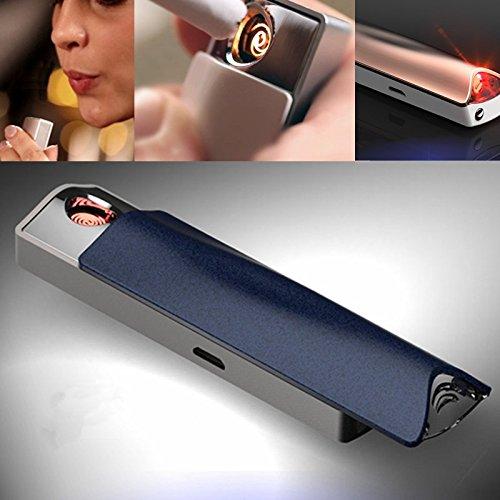 Mechero Electrónico e-flame Ed Alcohol Test Mechero USB recargable cortavientos con alcoholímetro...