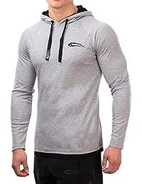 SMILODOX Slim Fit Kapuzenpullover Herren | Hoodie für Sport Fitness & Freizeit | Sportpullover - Sweatshirt Pulli - Pullover Langarm - Sportshirt mit Aufdruck