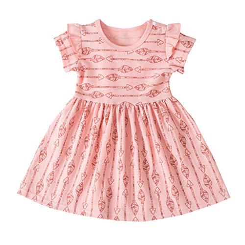 ädchen Kleid Spitze Rüschen Kleider Ärmellos Taste Hohl Prinzessin Sommerkleid Urlaub Outfit Kleidung ()