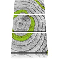 gli anelli degli alberi verde bianco / nero 3 pezzi di immagine tela 120x80 immagine sulla tela, XXL enormi immagini completamente Pagina con la barella, stampa artistica su murale cornice gänstiger come la pittura o un dipinto ad olio, non un manifesto o un banner,