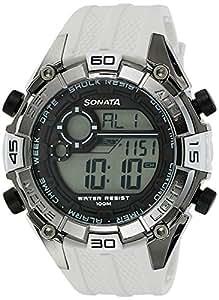 Sonata Ocean Series III Digital Grey Dial Unisex Watch - 77026PP02J