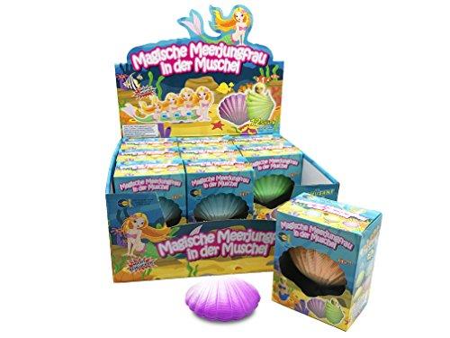 JustRean Toys Magische Meerjungfrau ♀️ in der Muschel - wachsende Wasser-Nixe | Mitgebsel Spielzeug Kinder-Geburtstag