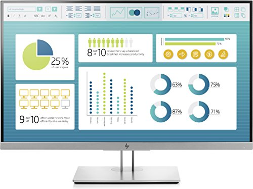 HP EliteDisplay E273 - Monitor de 27 pulgadas ajustable en altura (FHD antireflejo, 1920 x 1200 a 60 Hz, IPS LED, 300cd/m, 5ms, 16:10, 1 x VGA, 1 x HDMI 1.4, 1 x DisplayPort 1.2, 2 x USB 3.0)