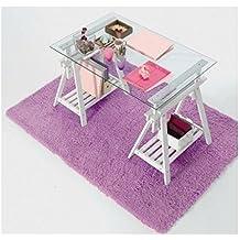 Mesa escritorio 2 caballetes regulables en altura y cristal transparente kme2016001