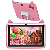 DUODUOGO G6 Tablet 7 Pollici HD Android 6.0 CPU Quad Core 1.3 GHz 2 GB RAM 32 GB ROM/Espandere a 64 GB Batteria 4000mAh Tablet per Bambini Doppia Fotocamera 200 W WIFI GPS Bluetooth 7 Pcs (G6)