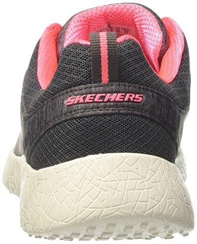 Skechers Burst-City Heat, Scarpe da Ginnastica Basse Donna Grigio (CCL)