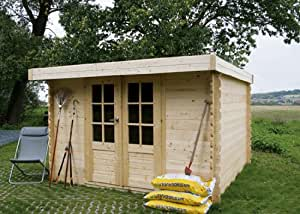 Abri de jardin en bois toit plat Pau 6,15m²