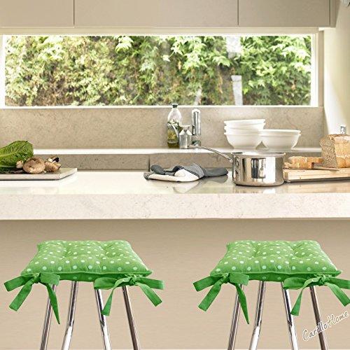 Coppia-Cuscini-Morbidone-Cotton-Pois-40x40-Verde