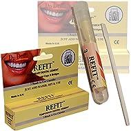 Dr Denti Refit Emergency Temporary Dental Caps Bridges Veneers Tooth Repair Cement - 1 Pack