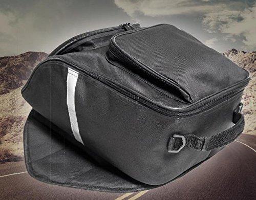 Büchel Motorrad Tankrucksack Mit Wasserdichter Abdeckung 81610000, schwarz, One Size