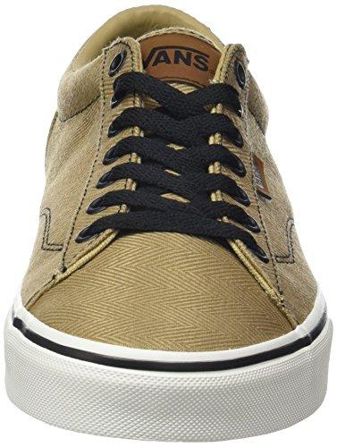 Vans MN Dawson, Sneakers Basses Homme Beige (Herringbone)