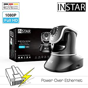 INSTAR IN-8015 Full HD (PoE Version) schwarz/IP Kamera/Überwachungskamera/PIR Sensor/Weitwinkel/Power Over Ethernet