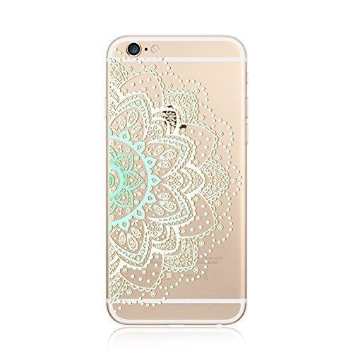 Coque iPhone 7 Housse étui-Case Transparent Liquid Crystal en TPU Silicone Clair,Protection Ultra Mince Premium,Coque Prime pour iPhone 7-Mandala-New-style 19 10