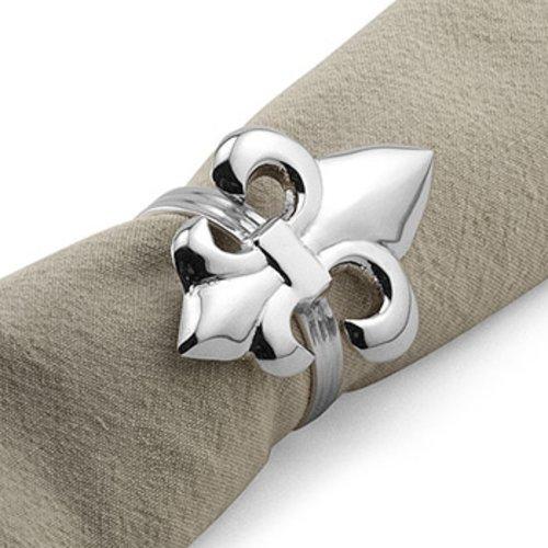 Metall Fleur de Lis Design Serviette Ring Halter in - (Ringe Lis-serviette Fleur De)