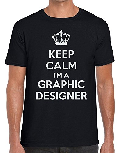 TeeDemon Keep Calm I'm A Graphic Designer - Carry On - Funny - Mens Shirts - Men's Tshirt Casual T-Shirt Gift by