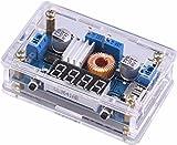 DC DC - Convertidor de Corriente de Voltaje y voltios reguladores de Voltaje CC y Corriente, convertidores Ajustables de 5 a 36 V a 1,25 – 32 V, 5 A, 75 W, LED, voltímetro de Controlador, Salida USB