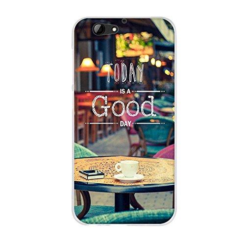 Fubaoda HTC One A9s Hülle, Hochwertiger Ultra Dünn TPU Silikon Bumper, Genießen Sie eine Gute Kaffeezeit, Kratzfest Langlebig, Stoßfest, Dauerhafter Schutz Handyhülle für HTC One A9s (5.0