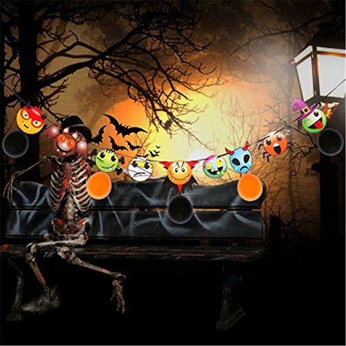 AAAHOMEEU 5Pcs Halloween-Papierzugflagge mit Ballon Halloween verfolgte Hausdekorationen