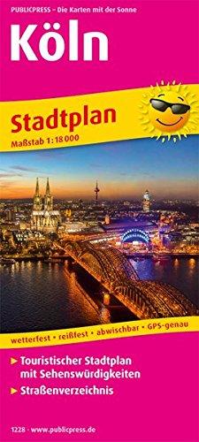Köln: Touristischer Stadtplan mit Sehenswürdigkeiten und Straßenverzeichnis. 1:18000 (Stadtplan / SP)
