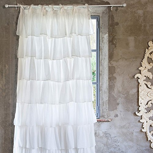 Tenda con gale Shabby Chic Fru Fru Collection Blanc Mariclo 150x300